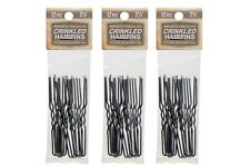 """Amish Made Crinkled  Heavy Duty  2 1/2""""  Stainless Steel Hairpins  3 PACKS"""