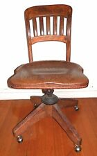 Tiger Oak Post Office Chair Danes Dancker Sellew Office Equipment New York City