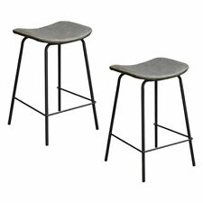 NEW Dover Mason Industriale Faux Leather Bar Stool (Set of 2)