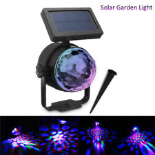 Solar Color Changing Crystal Ball Stage Light Landscape Lawn Lamp+ Groumd Stick