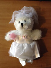 """New 8-10"""" Soft White Teddy Bear dress* Angel Outfit*+Accessories Complete # A"""