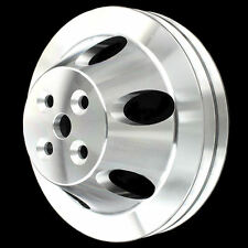 Pulley 2 Groove For SB Chevy Short Water Pump 327 350 400 Billet Aluminum