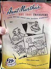 Very Vintage Aunt Martha's 3021 Dutch Motifs Hot Iron Transfers NEW