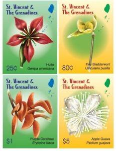 St. Vincent 2010 - SC# 3706-9 Flowers, Flora & Fauna - Set of 4 Stamps - MNH