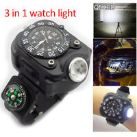 Tactical LED flashlight watch Rechargeable Wrist Watch Flashlight Light Torch