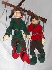 "Vintage 2 Marionette  Elf 8"" tall"