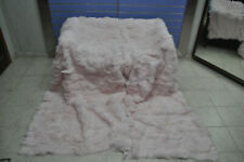 Luxury Pink Fox Fur Throw Real Red Fox Fur Blanket / Bedspread Kingsize