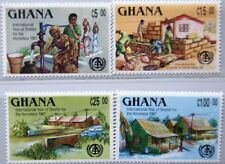 GHANA 1987 1170-73 1043-46 Intl. Year Shelter of Homeless würdiges Wohnen MNH