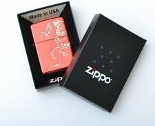 Brand New Zippo Lighter Dragon RED Gold modified in Japan