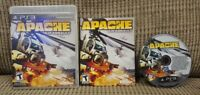 Apache Air Assault  -  Playstation 3 PS3 Complete Game w/ Manual Tested Working