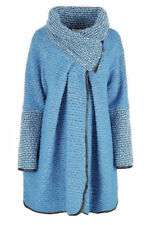 Manteaux et vestes bleu en laine mélangée pour femme