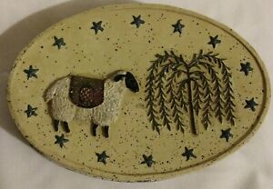 BLONDER HOME PRIMITIVE WELCOME SOAP DISH NEW