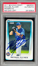 2011 Bowman Draft #BDPP30 Michael Fulmer RC PSA/DNA Signed Auto Mets Tigers ROY