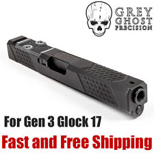 Grey Ghost Precision Match Grade RMR Cut Chevron Hex Slide for Gen3 Glock 17 -V2