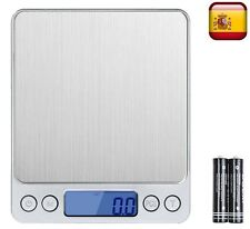 Peso bascula de precision balanza digital 0.01-500g profesional pilas incluidas
