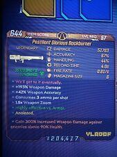 Xbox Borderlands 3 / Corrosive Backburner / 300% To Above 90% HP / 57 Mayhem 10