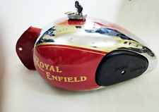 Royal Enfield 4 Gallon(approx) Chrome & Red Painted Fuel Tank 1990's Model @Pumy
