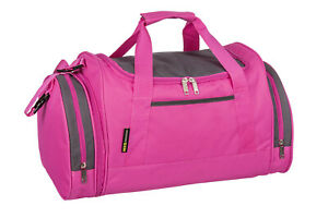 Ladies & Girls Pink Sports & Gym Bag - TRAVEL HOLDALL SCHOOL GYM WORK LEISURE