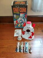 1960s Frosty Snowman SNO-CONE MACHINE in BOX Baby Boomer Christmas HASBRO