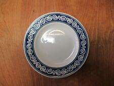"Pier 1 Brazil VITRA SCROLL Set of 5 Salad Plates 8"" Blue Scrolls"