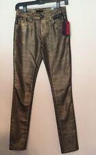 Nwt Bongo Jeans Denim Gold Skinny Juniors Size 1 Originally $50.00