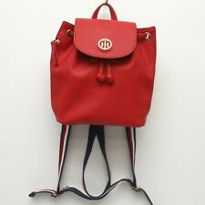 Tommy Hilfiger Womens Mini Backpack Red Artificial Leather