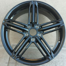 "18"" Black Wheels For Audi A4 A6 A8 Q5 VW CC Lux Rims 18x8.0 5x112 Rims Set (4)"