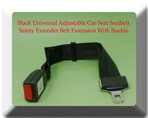 Black Universal Adjustable Car Seat Belt Safety Extender Belt Extension 14-24 In