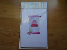 Pack of 5 Blank Cards with Envelopes. Cake