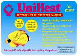 Uniheat 20 Hr Shipping Warmer Heat Pack Tropical Fish Corals Reptiles Insects