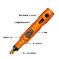 1 Pcs Cordless 3.6V Mini Drill Grinding Tool Kit Rotary Grinder USB Changing New