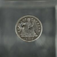 1857 Liberty Seated Half Dime with Arrows Good Condition  A-493