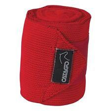 CATAGO elastische Fleecebandagen, 4 Stück - rot Bandage Pferde Beinschutz Fleece