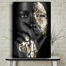 New african Art Black And Gold Woman Oil Painting On Canvas  Posters And Prints