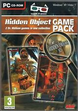 DOCTOR WATSON Treasure Island + Riddle of the Catacomb Hidden Object PC Game NEW