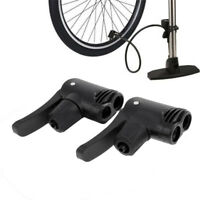 2pcs Bicycle Bike Tyre Tube Replacement Presta Dual Head Air Pump Adapter Valve