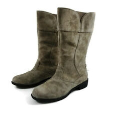 Propet Womens Boots Lexington Gray Mid-calf Suede Boots Size 7 Wide NWOB