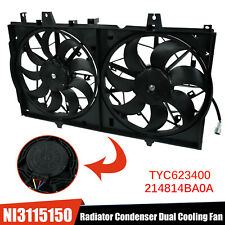Ac Radiator Condenser Cooling Fan Fit 2014-2018 Nissan Rogue 2015-2017 X-Trail