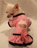 Dog dress/dog clothes/t-shirt/Strawberry Cupcake Dog Dress SIZE S,M, FREE SHIP