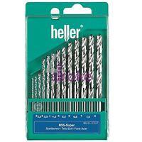 Heller 13 Piece HSS-G Super Twist Drill Bit Set 2mm - 8mm Ground - German Made