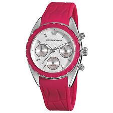 Emporio Armani Women's Sport Pink Silicone Strap Chronograph Quartz Watch AR5937