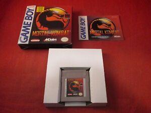 Mortal Kombat (Nintendo Game Boy, 1993) COMPLETE w/ Box manual game WORKS!