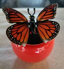Solar Powered Butterfly Animated Dancer Toy Car Window Sill Decoration Used