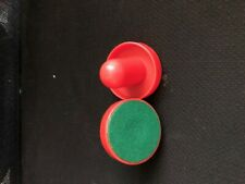 Pair of Red Plastic Air Hockey Pushers