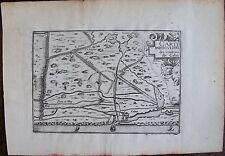 CARTE  PARTICULIERE DES ENVIRONS DE CALAIS. Par TASSIN. Carte originale de 1633.