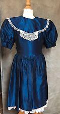 Vintage MIDNIGHT BLUE TAFFETA Party Dress JESSICA MCCLINTOCK 7 USA Flower Girl