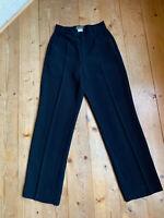 Patrick Mendes Karottenhose high waist schwarz Schurwolle Mix Bügelfalte 34 36