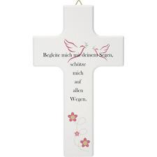 Kinderkreuz weiß Holzkreuz Taufkreuz Geburt Taufe Wandkreuz Taufgeschenke
