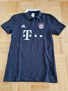 FC Bayern München matchworn Poloshirt Trikot T-Shirt  Adidas Sponsor FCB CL DFB