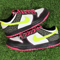 Nike Dunk Low Volt Pink Stars Safari 309601-174 GS 2009 Release Size 5Y